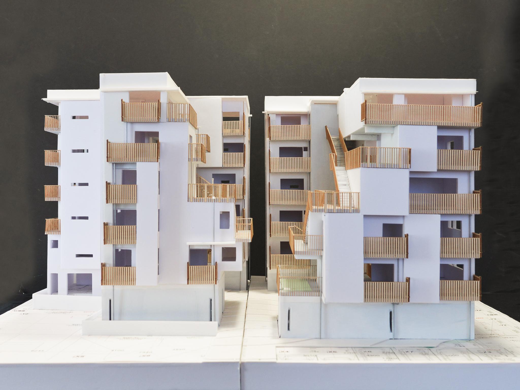 建築模型のパーツもレーザーカッターで