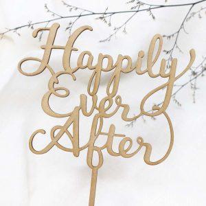 MDF×レーザーカッターで作る、結婚式用オリジナルケーキトッパー